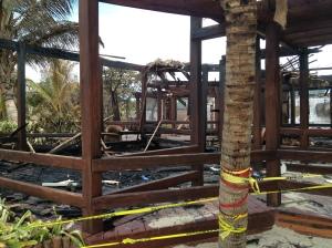Scenes of devastation at Ramon's Village Resort in San Pedro, Ambergris Caye, Belize.