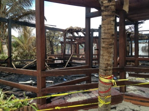 Scenes of devastation at Ramon's Village Resort in San Pedro, Ambergris Caye, Belize.