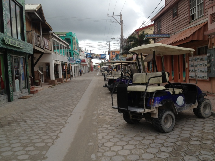The golf carts in particular are everywhere in San Pedro. Sometimes parking can be a challenge....as is staying our of their way as  pedestrian!