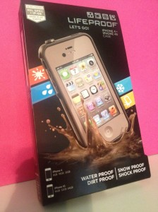 This is the box my Lifeproof phone casing came in. My phone looks just like that. Imagine this phone without the case and imagine that it is falling into chocolate ... it could happen.