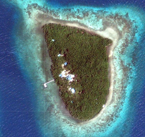 Wee Wee Caye, yours for a little over a half-million dollars. But it is no where near Leonardo DiCaprio's caye.