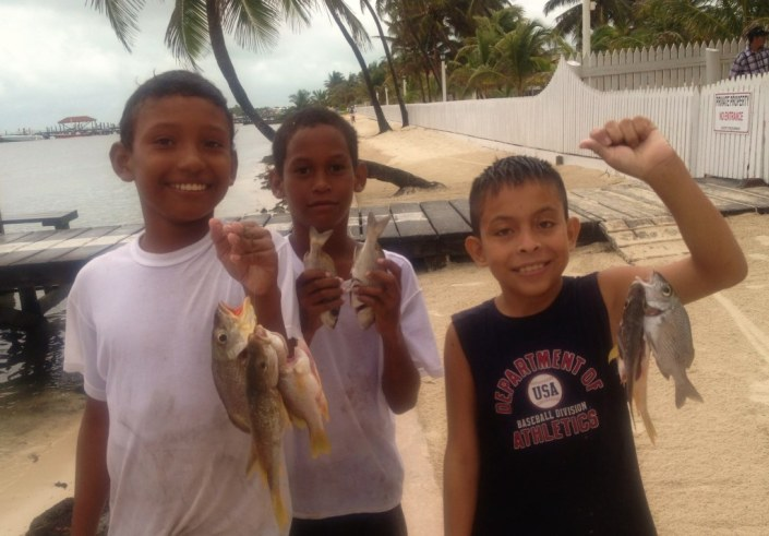 These guys were just wrapping up a successful morning of fishing when we cam along the shore of San Pedro.