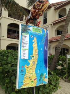 Signposts are all around San Pedro, so getting lost is a challenge. Well, getting lost on an island is a challenge to begin with.