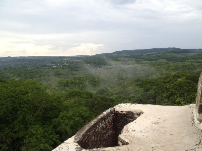 View from the top,looking toward Guatemala.