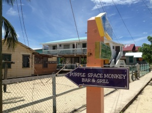 Placencia still has a funky, sun and sea drenched quirkiness to it, like its signs for various bars and restaurants.