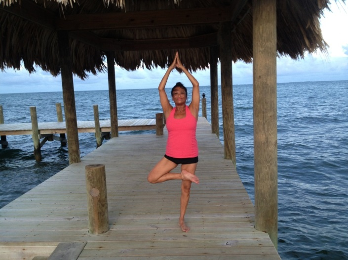 Rose has done yoga by herself every morning under the palapa at the end of a pier just north of Turtle Inn. The owners let inn guests use the pier. Nice neighbors!