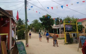 Main Street in Caye Cauker. A nice little village on a nice little island just south of Ambergris Caye.