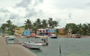 Caye Caulker from the water taxi dock.