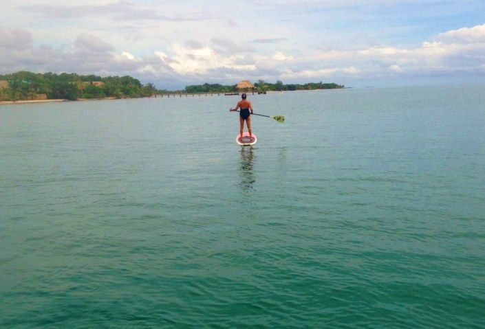 Rose, without Monkey Bob to amuse her, took to isolated activities, like paddleboarding off the beach of Turtle Inn in Placencia. When she discovered she wasn't alone -- that there were many jellyfish out there to keep her company, Rose set a sea surface record paddling for shore.