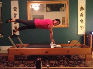 Exertion with a smile, that has been the Pilates by Rose way as Claudia demonstrates here.