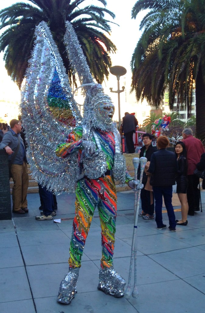 What can I say? Christmas in San Francisco where even the Christmas Angel on Acid gets 15 minutes of fame in Union Square ...