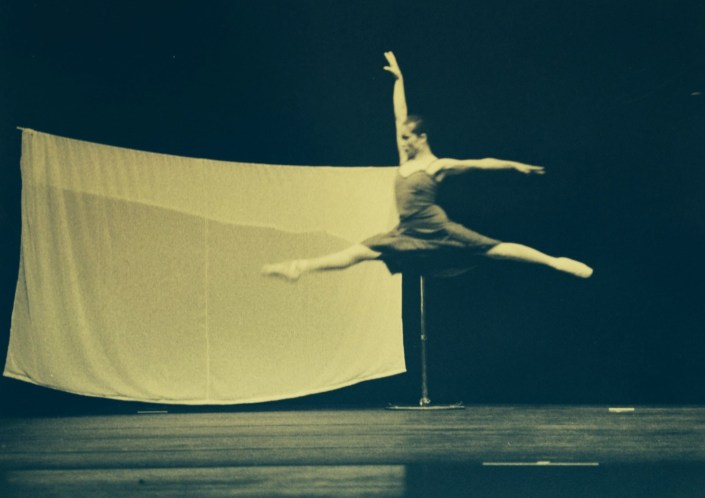 "Rose Alcantara in full soaring jette during a performance of a dance called ""El Macbeth."""