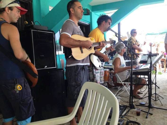 Inside Estel's back in March which a pickup band of local musicians added spice to our Sunday breakfast!