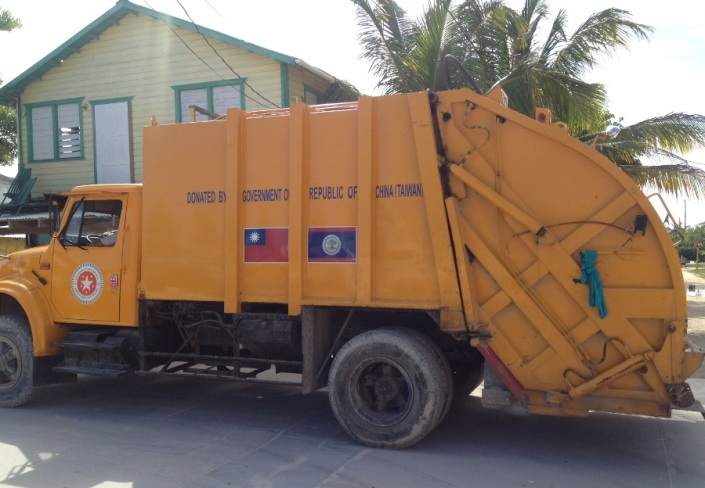 We have China to thank for our garbage pick-up in San Pedro Town! To the local culture, the U.S. has added mud wrestling, chicken drops and Jerry Jeff Walker. Let's call it even for now.