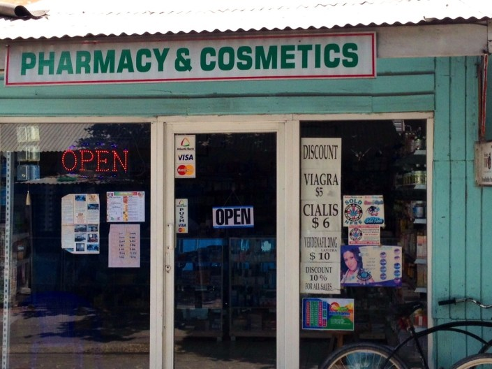 Got to love a pharmacy that sells discount Viagra and Cialis ... and real Cuban cigars.