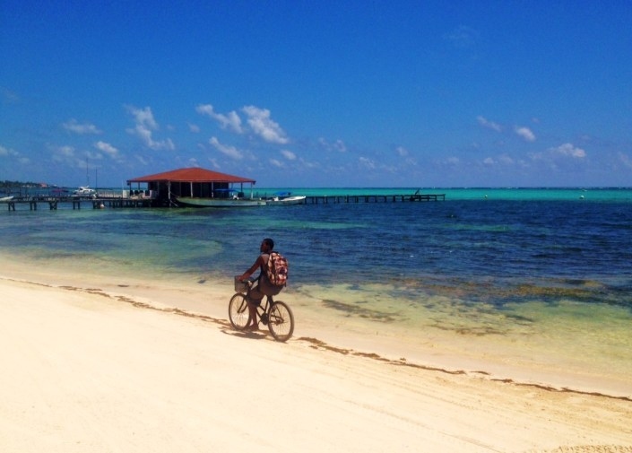 Just a nice day in San Pedro Belize. his is how we travel from town to home.