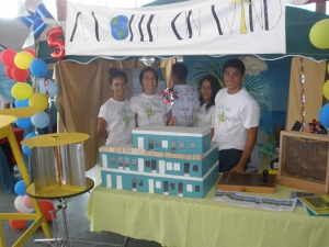 This team explored wind technology for power generation for the San Pedro High School science fair.