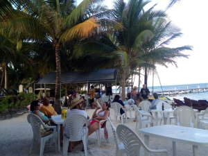 A bit of the end of a two-day beach party at Caribbean Villas in the south side of San Pedro.