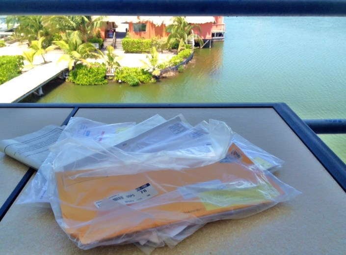 It took five weeks, but our first forwarded mail from the U.S. has arrived. Guess who the first piece of mail was from?