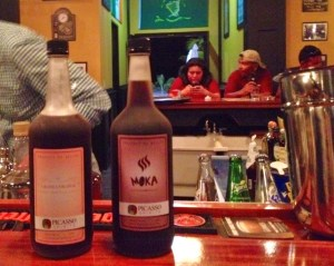 A couple of the liqueurs featured by Picasso Spirits in Molly Malones. Onthe  left is Grand L'Orange, at right, Moka.