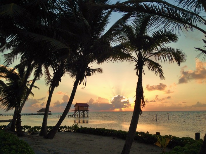 Thought I'd share this morning's sunrise, 5:35 a.m. on Ambergris Caye, Belize. Happy Easter to you all! Thank you for reading Bound for Belize.