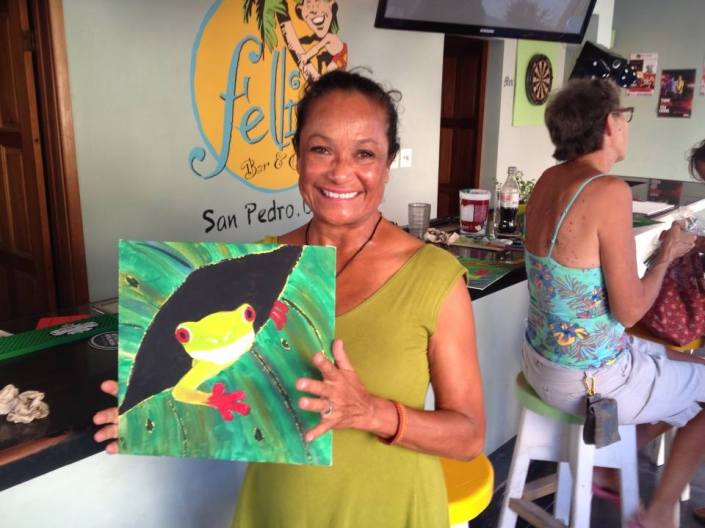 Which is more suitable for framing, the Belizean tree frog or Rose's smile?