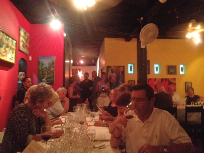 More of the guests for the Casa Picasso -- Wine de Vine dinner on Saturday night.