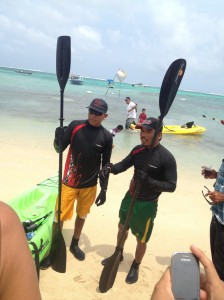 Eco-Challenge winners Cesar Salazar and Irvin Humes of Team Coco Beach.