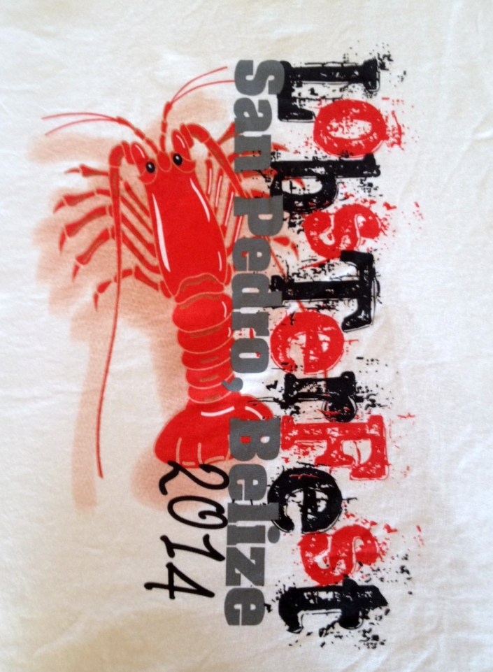 Yes, I bought the official LobsterFest T-shirt. Couldn't resist this cool image. And it is my first white T-shirt. Of what importance that is, I have no idea.