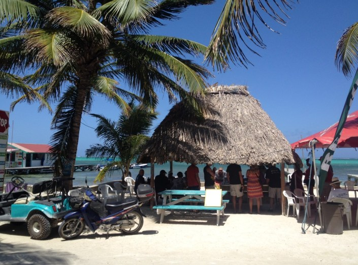 Food was served beneath the palapa just across the road from Wayo's Beach Beernet on Thursday afternoon. We filled the tables there with friends and neighbors from the Tres Cocos neighborhood.