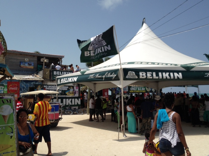 If you don't see the name Belikin plastered all over the place, chances are you are not really attending a real event in Belize. perhaps it is a dream or a mirage. The national beer raises its banners where ever Belizeans gather to celebrate, what ever they are celebrating. Belikin beer is there or it isn't really happening.
