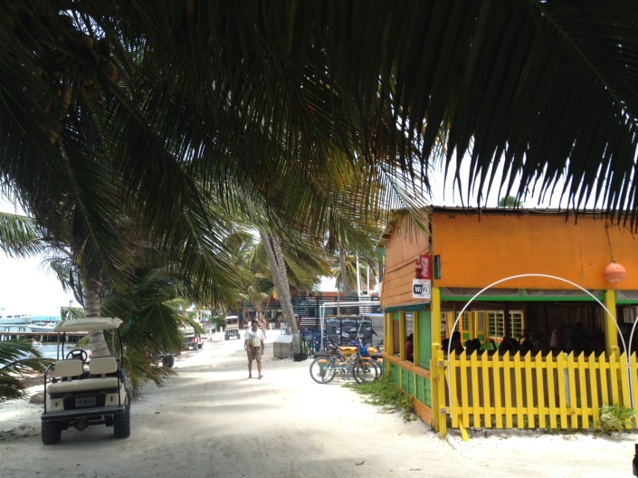 Tranquility reigned Sunday along the beachwalk toward the south end of Caye Caulker.