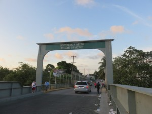 The bridge from Belize to Mexico, near Corozal. (Photo by San Pedro Scoop).