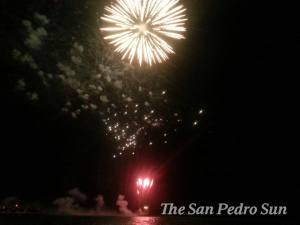 Fireworks go on and a  young  country celebrates its independence. (Photo from San Pedro Sun)