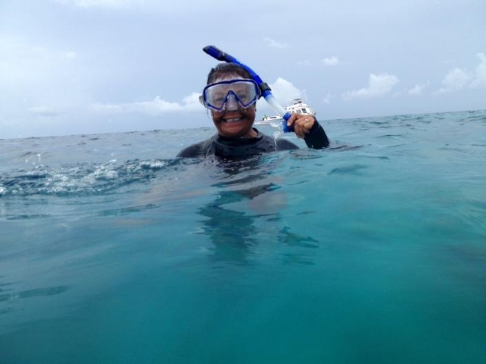 Blue Hole snorkeling babe!