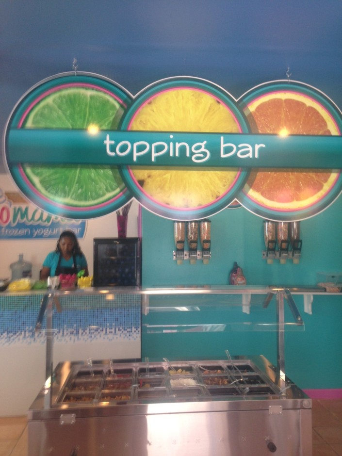 Yup, a toppings bar in San Pedro. What will be next?