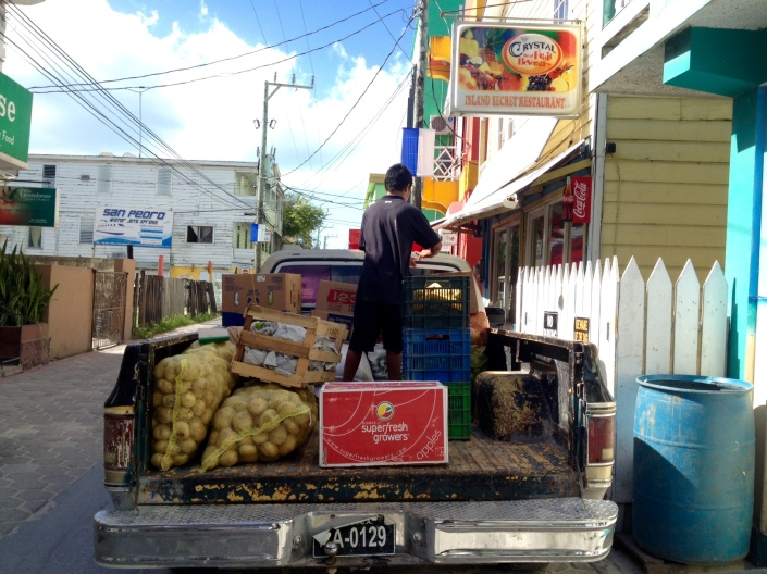 I know what you are thinking: What has this image got to do with this post? Your suspicions are correct: Nothing. These guys were offloading produce and dry goods at The Greenhouse on Middle Street in San Pedro.