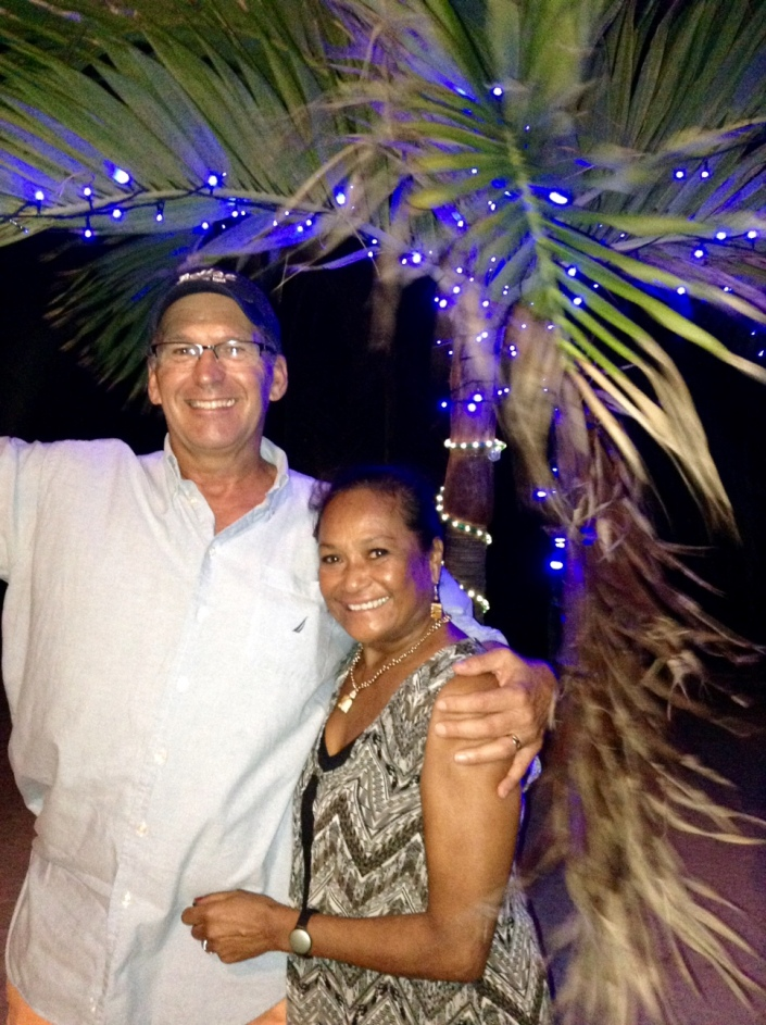 With holiday love from Bob Hawkins and Rose Alcantara in San Pedro Town, Ambergris Caye, Belize.