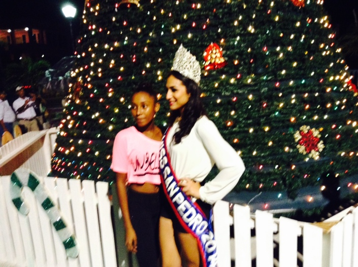 Next to celebrating holidays, Belizeans love beauty pageants and beauty queens. Miss San Pedro, Michelle Nunez, attends every public event and is shadowed by young girls where ever she goes.