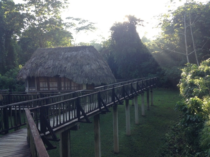 Some of the larger lodgings at Pook's Hill, through the jungle and across a bridge from the main grounds.