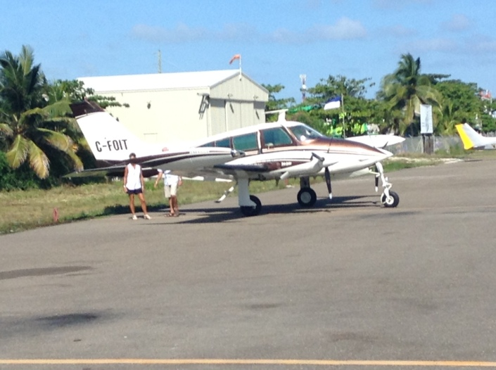 Rob and Marlene prepare the plane for a quip trip to the mainland. They kindly dropped us off at the clinic where I was to get the stent deployed in a clogged artery.