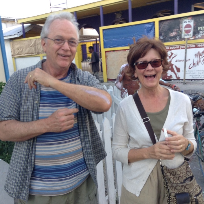 Casualties of war, our dear friends Mike and Ann Kuffner got brushed by some paint  encrusted kids while out shooting photos on Sunday. Clearly they survived in good spirits!