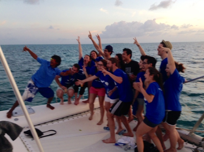 Medical students from Texas A&M seem to be enjoying their first few hours in Belize.