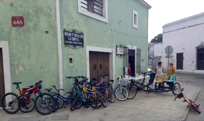 Sundays are for bicycles in Merida. Nearly five miles of the city's prime streets are closed to vehicle traffic until around noon.