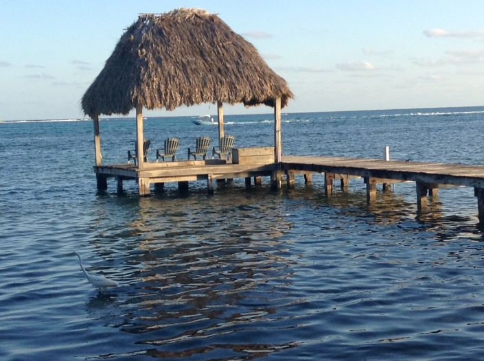 There is nothing like sitting under a palapa at the end of a pier. I frequently go to the end of ours to meditate. Sure puts things into perspective. I keep hoping for a dolphin pod to show up as I meditate. Hasn't happened yet.