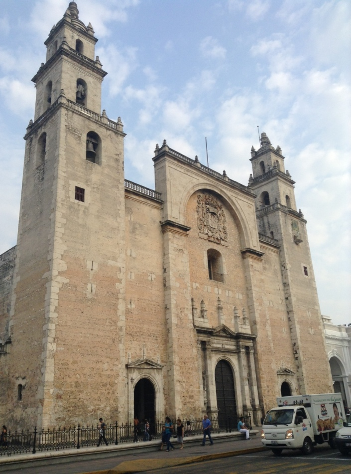 Kind of the iconic image of Merida, the Catedral  San Ildefonso on Calle 60 at 61st, on the east side of Parque Grande.