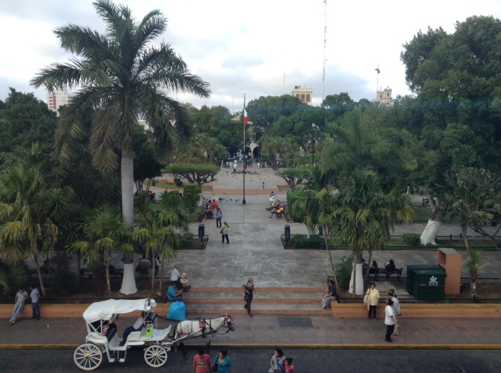 A view of Parque Grande in Merida, Mexico. This one park is the focal point for so much of the activity that takes place in the Central Historic District.