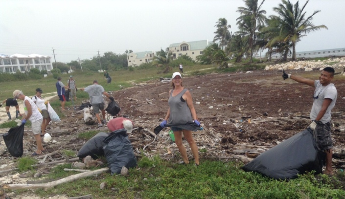 Susan Barkhouse spends part of her birthday in the field picking up trash with her friends and neighbors. Now that is devotion!