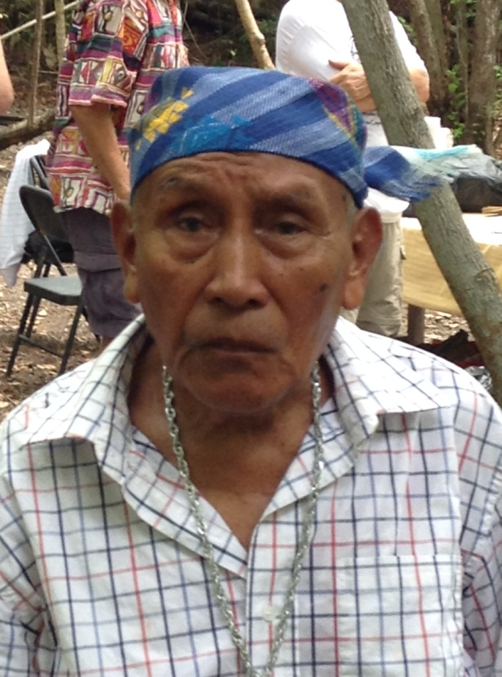 Mayan priest Martin Choc at the Marco Gonzalez Mayan Site on Ambergris Caye, Belize on Sunday, June 21, 2015