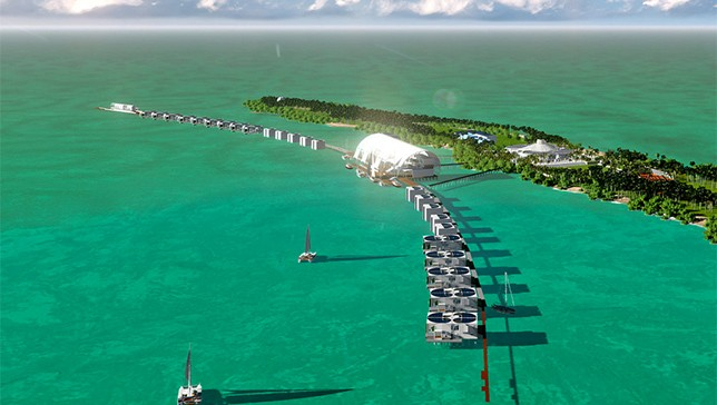 Here's what Blackadore Caye might look like after Leonardo DiCaprio and his friends have saved it from willful self-destruction.